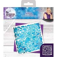 Sara Signature Collection Enchanted Forest - 6x6 Stencil - Droplets