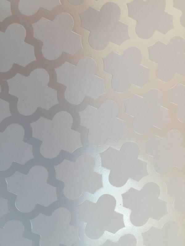 weie muster auf glnzendem papier im format 85 - Bastelpapier Muster