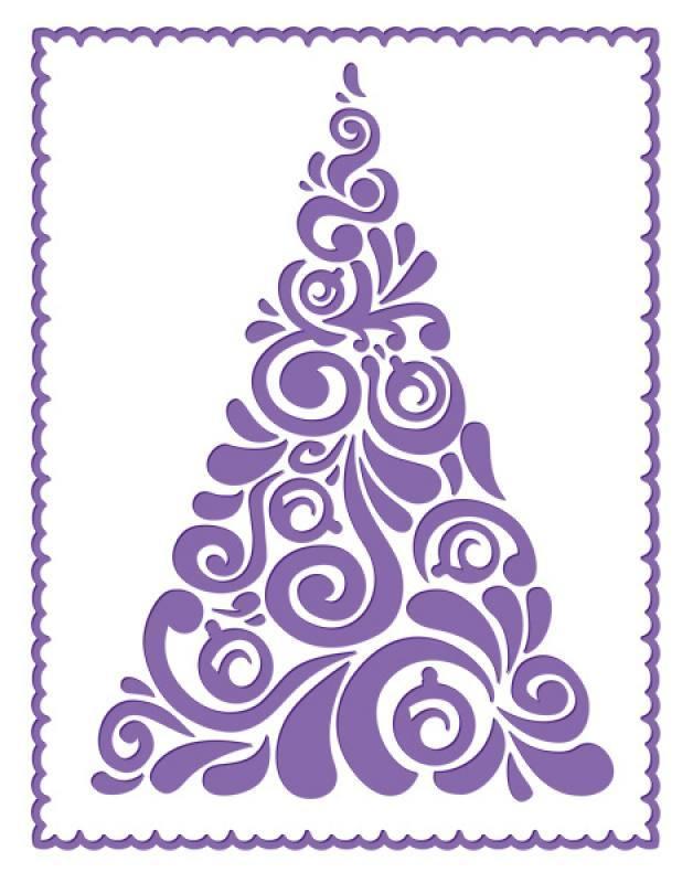 Pr geschablone weihnachtsbaum modern - Weihnachtsbaum modern ...